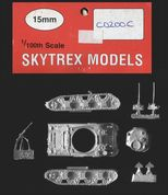 Skytrex 15mm CD200C WWII US M4A1 Sherman with Applique Armour (x 1)